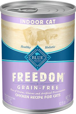 7. Blue Buffalo Freedom Indoor Adult Chicken Recipe Canned Food