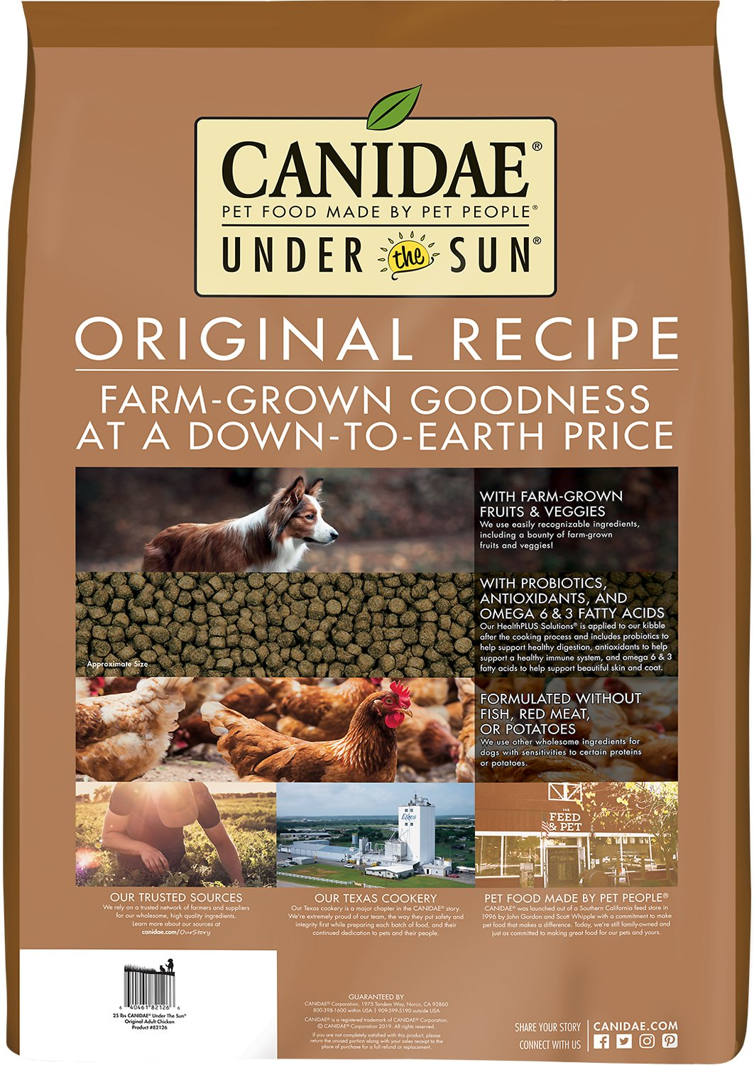 Under the Sun Original Adult Chicken Recipe Dry Dog Food, 25-lb bag ...