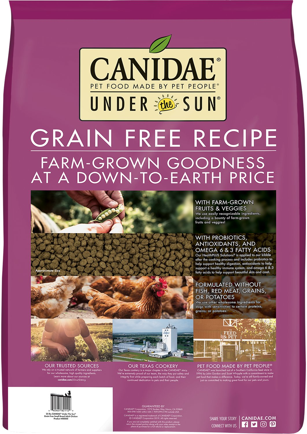 Under the Sun Grain-Free Small Breed Adult Chicken Recipe Dry Dog ...