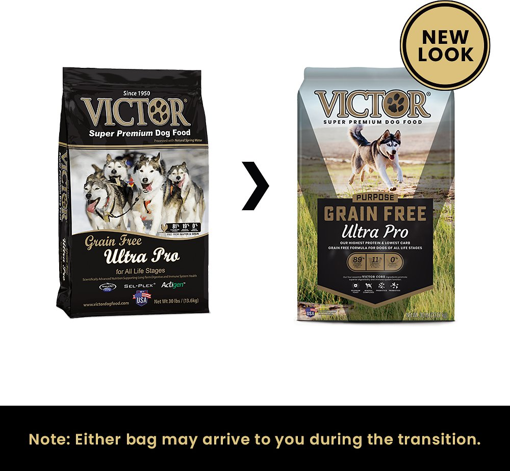 Victor Dog Food Reviews >> Victor Ultra Pro 42 Grain-Free Dry Dog Food, 5-lb bag ...