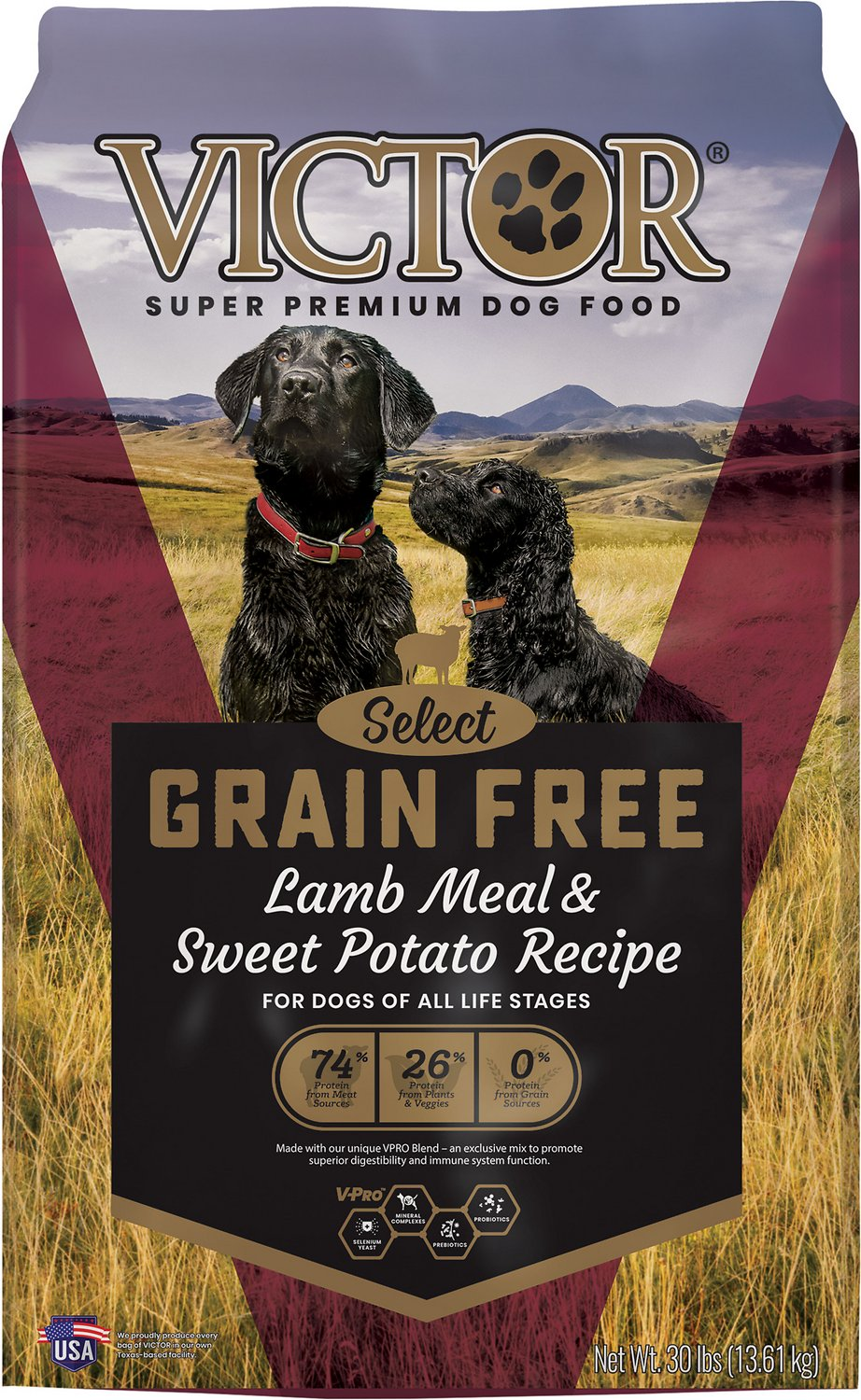 Victor Grain Free Prairie Land Canine With Lamb Meal Sweet Potato Dry Dog Food 30 Lb Bag Chewy Com