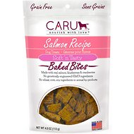 Caru Soft 'n Tasty Baked Bites Salmon Recipe Grain-Free Dog Treats, 4-oz bag