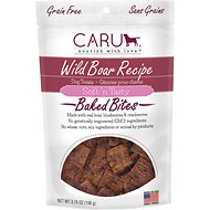 Caru Soft 'n Tasty Baked Bites Wild Boar Recipe Grain-Free Dog Treats, 3.75-oz bag