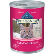 Blue Buffalo Wilderness Salmon Grain-Free Canned Cat Food, 12.5-oz, case of 12