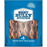 "Best Bully Sticks Braided 4-5"" Bully Sticks Dog Treats, 1-lb bag"