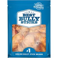 Best Bully Sticks Thick Cut Pig Ears Dog Treats, 20 count