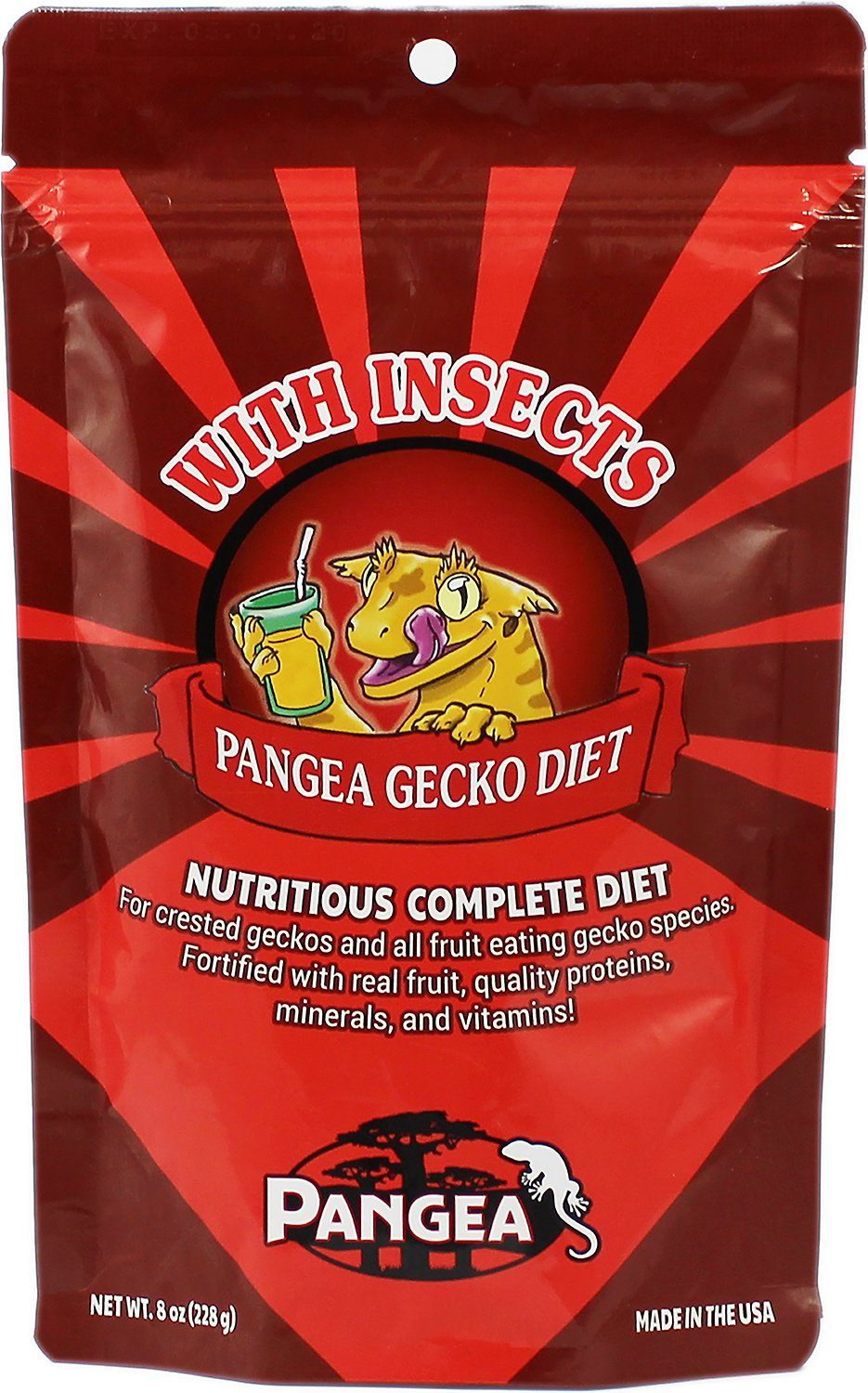 Pangea Fruit Mix Gecko Diet with Insects Food, 8-oz bag