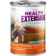 Health Extension Grain-Free Chunky Chicken Stew Canned Dog Food, 13.2-oz, case of 12