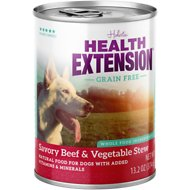 Health Extension Grain-Free Savory Beef Stew Canned Dog Food, 13.2-oz, case of 12