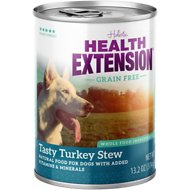 Health Extension Grain-Free Tasty Turkey Stew Canned Dog Food, 13.2-oz, case of 12