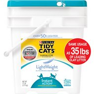 Tidy Cats Lightweight Instant Action Clumping Cat Litter, 17-lb pail
