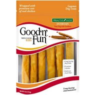Good 'n' Fun Triple Flavor Ribs Beef, Pork & Chicken Sticks Dog Chews, 4-oz bag