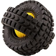 Pet Qwerks Animal Sound X-Tire Ball Dog Toy, 5-in