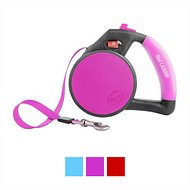 Wigzi Retractable Gel Leash, Pink, Medium