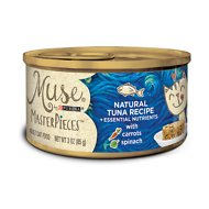 Purina Muse MasterPieces Natural Canned Cat Food, Tuna Recipe with Carrots & Spinach, 3-oz, case of 24
