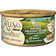 Purina Muse MasterPieces Natural Pheasant Recipe with Sweet Potato & Spinach Canned Cat Food, 3-oz, case of 24