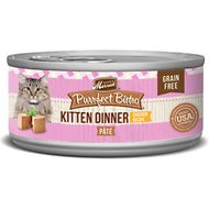 Merrick Purrfect Bistro Grain-Free Kitten Dinner Pate Canned Cat Food, 5.5-oz, case of 24