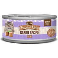 Merrick Purrfect Bistro Rabbit Pate Grain-Free Canned Cat Food, 5.5-oz, case of 24