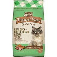 Merrick Purrfect Bistro Grain-Free Real Duck + Sweet Potato Recipe Adult Dry Cat Food, 4-lb bag
