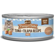 Merrick Purrfect Bistro Grain-Free Tuna & Tilapia Pate Canned Cat Food, 3-oz, case of 24