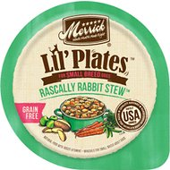 Merrick Lil' Plates Grain-Free Rascally Rabbit Stew Dog Food Trays, 3.5-oz, case of 12