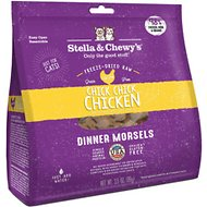 Stella & Chewy's Chick Chick Chicken Dinner Morsels Freeze-Dried Raw Cat Food, 3.5-oz bag