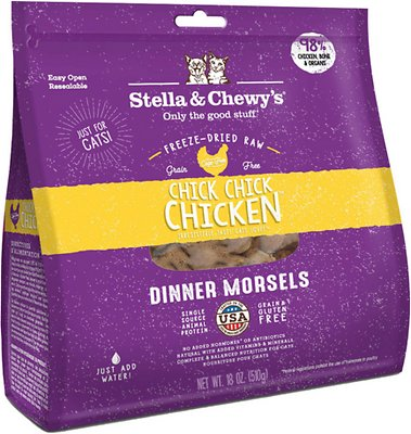 8. Stella & Chewy's Chick Chick Chicken Dinner Morsels Freeze-Dried Raw Cat Food
