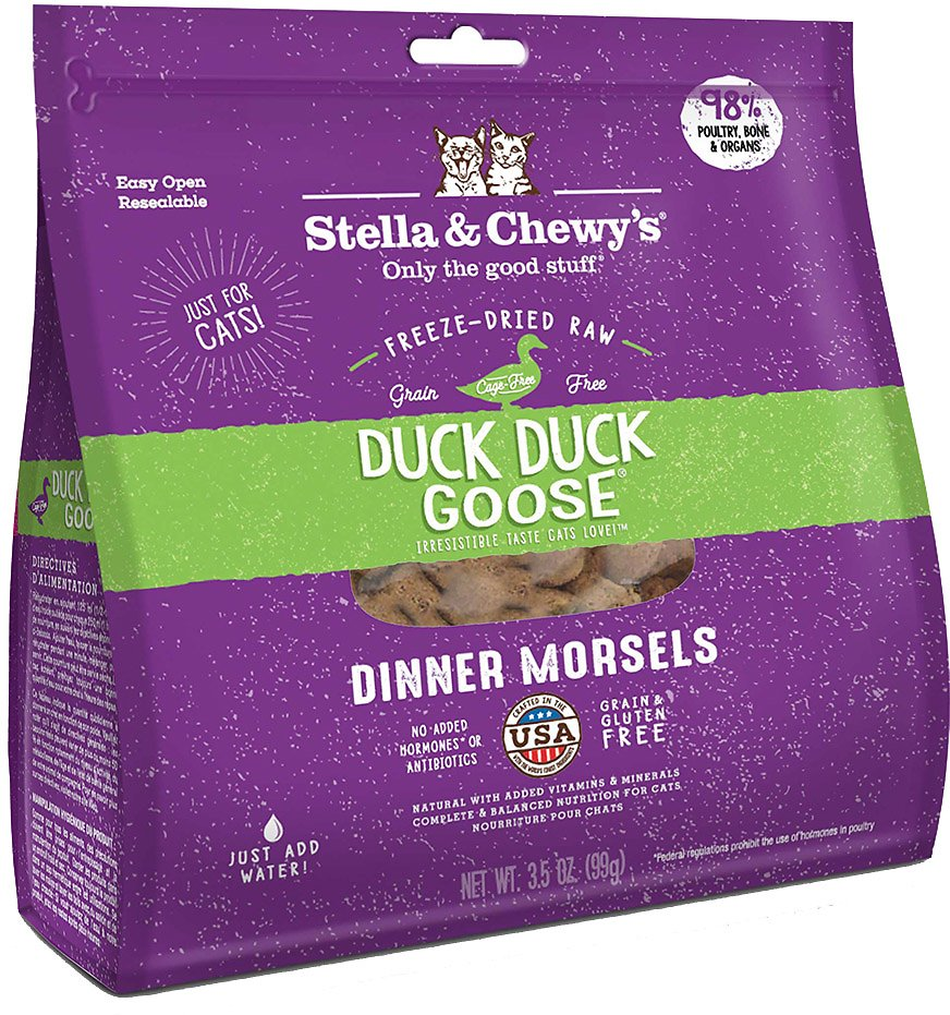 480b743cdf Stella   Chewy s Duck Duck Goose Dinner Morsels Freeze-Dried Raw Cat Food