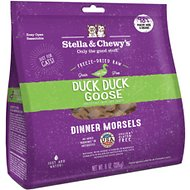 Stella & Chewy's Duck Duck Goose Dinner Morsels Freeze-Dried Raw Cat Food, 8-oz bag