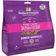 Stella & Chewy's Yummy Lickin' Salmon & Chicken Dinner Morsels Freeze-Dried Raw Cat Food, 3.5-oz bag