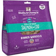 Stella & Chewy's Sea-licious Salmon & Cod Dinner Morsels Freeze-Dried Raw Cat Food, 3.5-oz bag