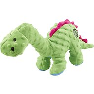 GoDog Dinos Chew Guard Bruto Dog Toy, Green, Large