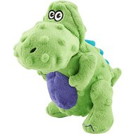 GoDog Dinos Chew Guard T-Rex Dog Toy, Green, Small