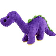 GoDog Dinos Chew Guard Bruto Dog Toy, Purple, Small