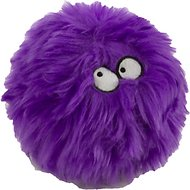 GoDog Furballz Chew Guard Dog Toy, Purple, Small