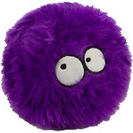 GoDog Furballz Chew Guard Dog Toy, Purple, Large