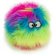 GoDog Furballz Chew Guard Dog Toy, Rainbow, Small