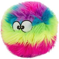 GoDog Furballz Chew Guard Dog Toy, Rainbow, Large