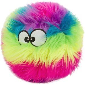 GoDog Furballz Chew Guard Squeaky Plush Dog Toy
