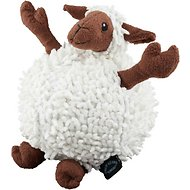 GoDog Fuzzy Wuzzy Chew Guard Sheep Dog Toy, Large