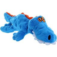GoDog Gators Chew Guard Dog Toy, Blue, Small