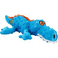GoDog Gators Chew Guard Dog Toy, Blue, Large
