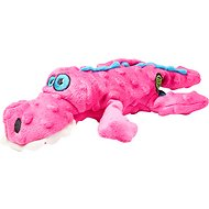 GoDog Gators Chew Guard Dog Toy, Pink, Small