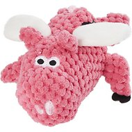 GoDog Just for Me Chew Guard Flying Pig Dog Toy, Light Pink, Tiny