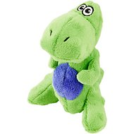 GoDog Just for Me Chew Guard T-Rex Dog Toy, Lime