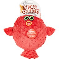 Hear Doggy Silent Squeaker Blow Fish Dog Toy, Large
