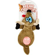 Hear Doggy Silent Squeaker Flattie Deer Dog Toy