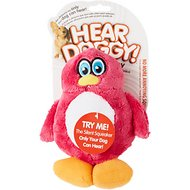Hear Doggy Silent Squeaker Penguin Dog Toy, Small