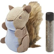 Petlinks Plush Player Squirrel Refillable Catnip Cat Toy
