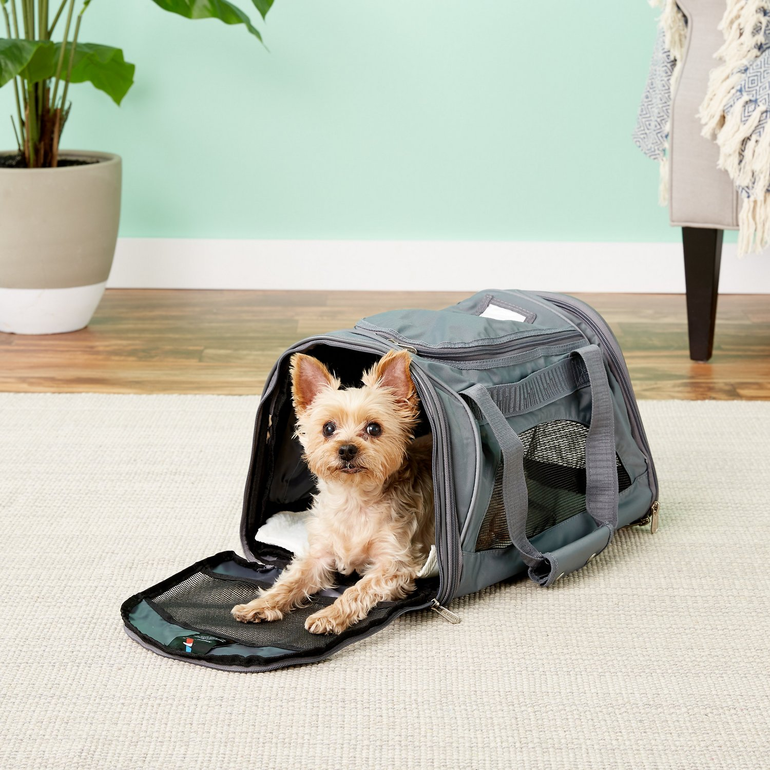 08adee71aa Sherpa American Airlines Duffle Pet Carrier, Charcoal - Chewy.com